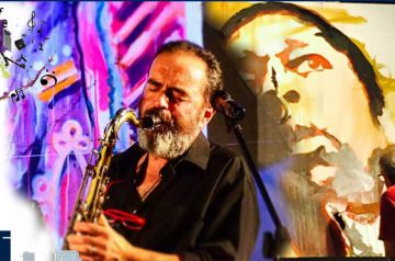 Un sassofono blu e Franco Ori