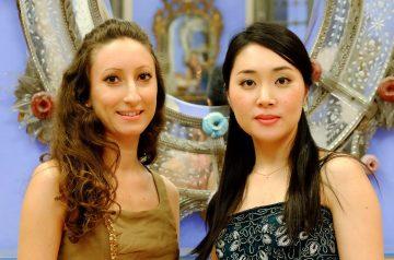 Chisa Tanigaki e Elisa Malandra in Sala Maffeiana